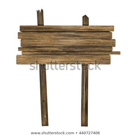 Wooden log and sign Stock photo © colematt