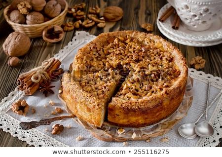 Stock fotó: ízletes · édes · házi · készítésű · almás · pite · torta · fahéj