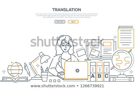Tradução moderno linha projeto estilo teia Foto stock © Decorwithme