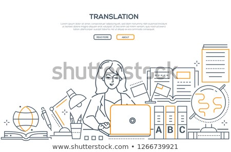 freelance · moderne · lijn · ontwerp · stijl · web - stockfoto © decorwithme