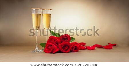 Zdjęcia stock: Dwa · szampana · okulary · christmas · przedstawia