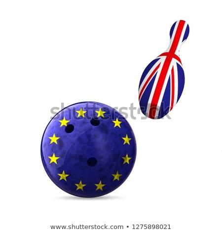 Vlag eu groot-brittannië bowling witte geïsoleerd Stockfoto © ISerg