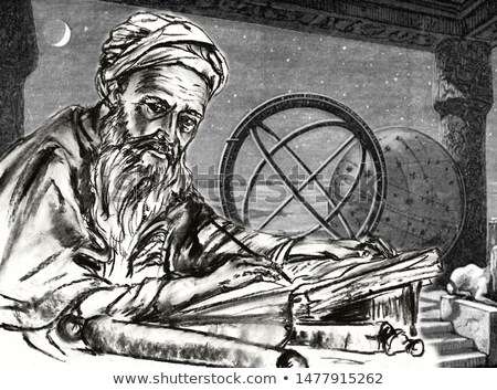 Al-Khwarizmi Muslim Scholar Illustration Stock photo © artisticco