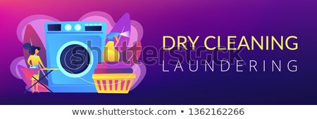 Dry cleaning and laundering concept banner header. Stock photo © RAStudio