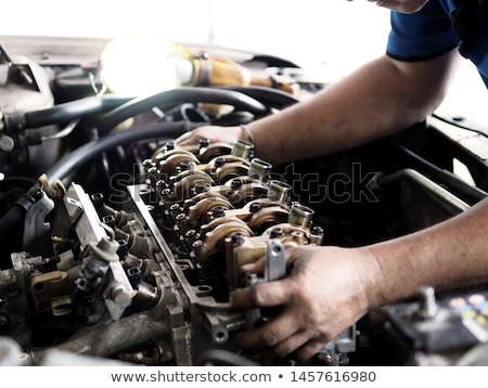 car engine in the service stock photo © boggy