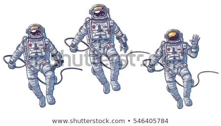 Kosmonaut geïsoleerd astronaut zonnestelsel ontwerp aarde Stockfoto © netkov1