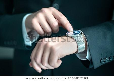 zakenman · graphics · charts · man · technologie - stockfoto © ra2studio