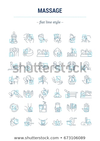 Back and Facial Massage and Procedure Set Vector Stock photo © robuart