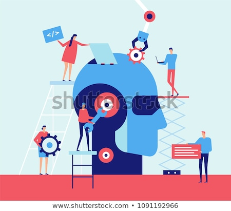 Artificial intelligence - flat design style colorful illustration Stock photo © Decorwithme