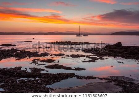 Sunset Batemans Bay Australia with yachts Stock photo © lovleah
