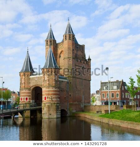 Historisch huizen oude holland kanaal voorjaar Stockfoto © neirfy