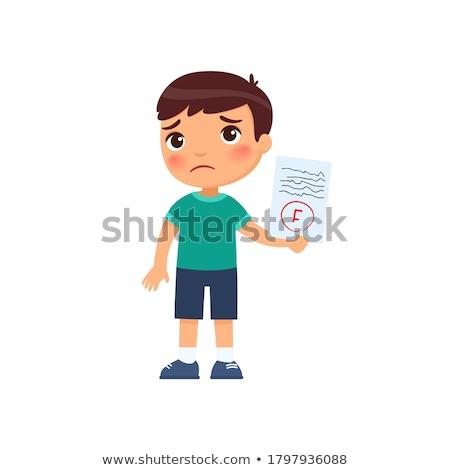 F Grade Vector. Fail Exam Mark Isolated Flat Cartoon Illustration Stock photo © pikepicture