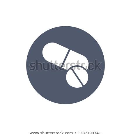 Pílulas ícone estilo círculo página Foto stock © kyryloff