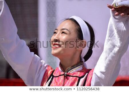 женщину · высокий · молодые · улице · розовый · белья - Сток-фото © disorderly