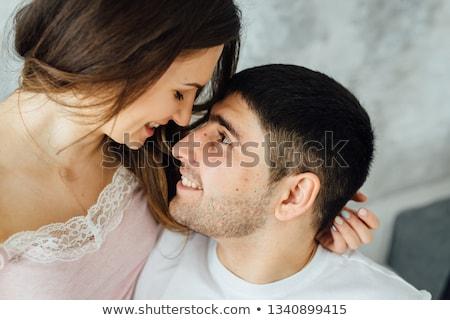deux · adulte · personnes · chambre · posant · visage - photo stock © ruslanshramko
