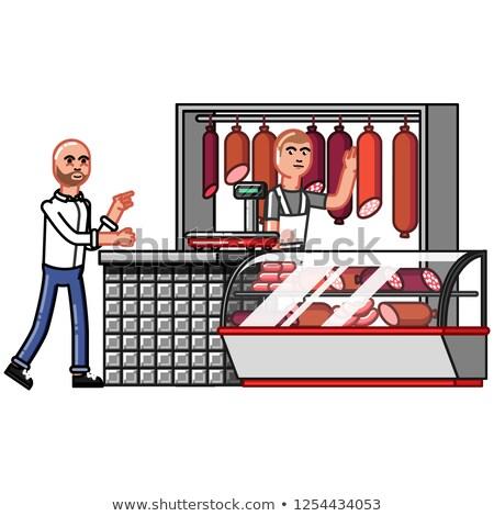 armas · osso · carne · formato · eps · 10 - foto stock © netkov1