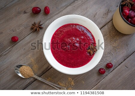 Bowl of cranberry sauce Stock photo © Alex9500