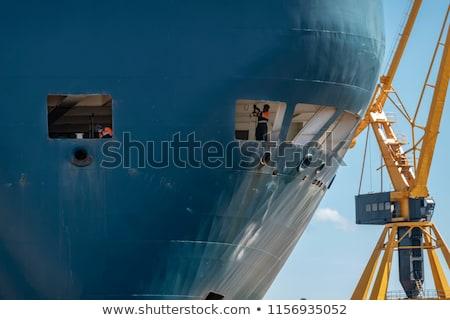 Kettő hajók száraz javítás dokk nagy Stock fotó © 5xinc