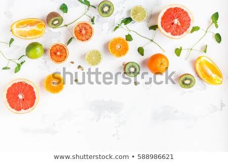 Fresh Citrus Salad. Vegan, vegetarian, clean eating, dieting, food concept. stockfoto © Illia