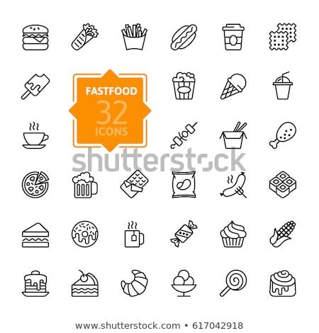ベクトル · セット · ポップコーン · 食品 · デザイン · 図面 - ストックフォト © olllikeballoon