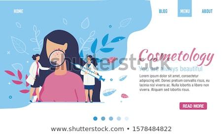 kapper · vrouw · vector · schoonheidssalon · kam · kapsel - stockfoto © robuart