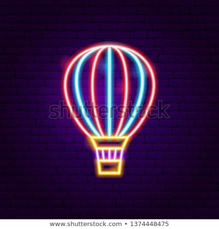 Air Balloon Neon Label Stock photo © Anna_leni