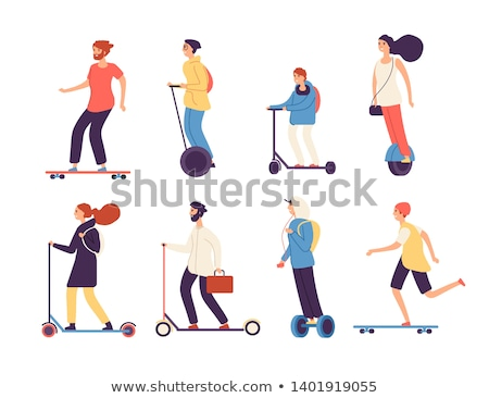 Hoverboard isolated on white background. Vector illustration. Stock photo © Arkadivna