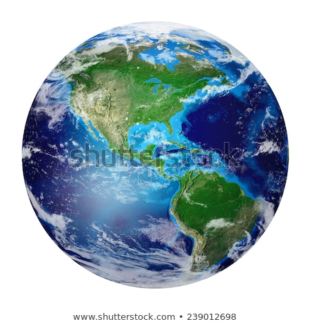 Realistic Earth from space showing North and South America. Stock photo © ConceptCafe