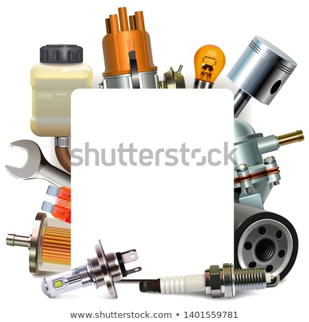 Vector Blank Frame with Automotive Parts Stock photo © dashadima