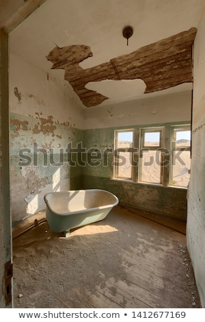 Stock photo: Bathtub in a deserted building, Namibia