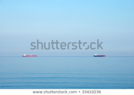 vracht · schepen · horizon · Blauw · zee · water - stockfoto © galitskaya