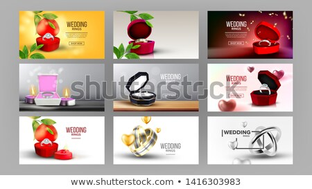 Classic Silver Diamond Ring Landing Page Vector Stock photo © pikepicture