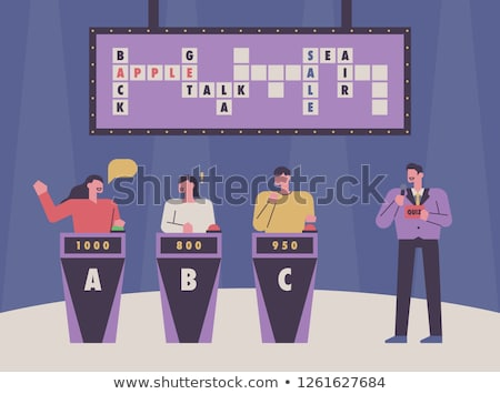 Character Participating In Tv Quiz Show Vector Stock photo © pikepicture