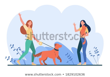 People Animal Character, Business Meeting Vector Stock photo © robuart