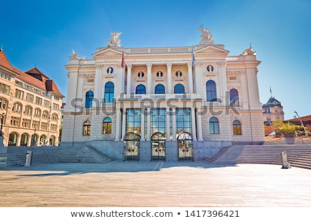 Zurich opera house and Sechselautenplatz town square view, Stock photo © xbrchx