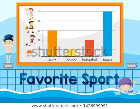 любимый спорт диаграммы шаблон иллюстрация бизнеса Сток-фото © bluering