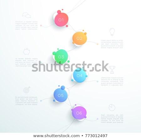 een · twee · drie · vector · bubbels · nummers - stockfoto © orson