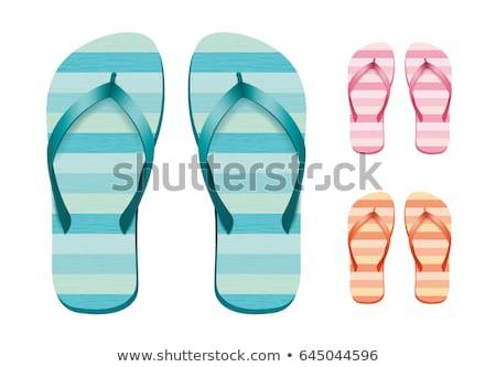 резиновые оранжевый сандалии икона обувь Сток-фото © robuart
