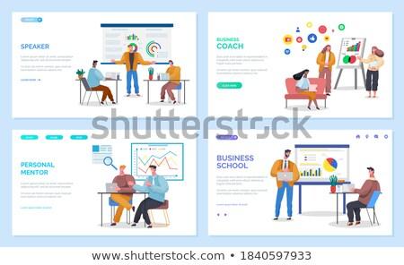 бизнеса школы личные наставник набор Сток-фото © robuart