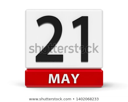 Cubes calendar 21st May Stock photo © Oakozhan