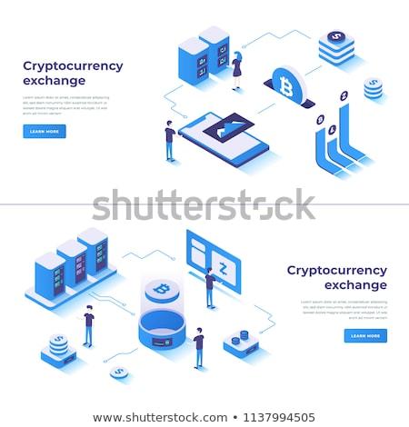 икона валюта горно технологий торговый вектора Сток-фото © MarySan