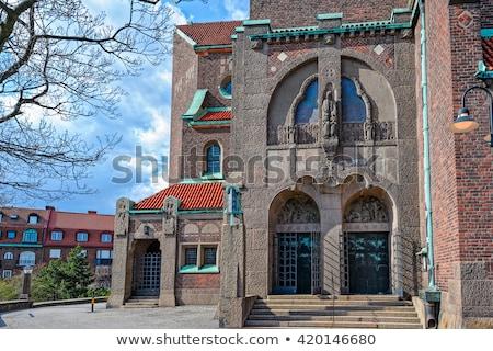 Kerk Stockholm art nouveau stijl Zweden hemel Stockfoto © borisb17