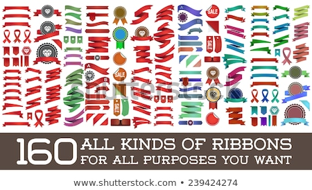 Color Vintage Classical Advertising Flag Ribbon Vector Stock photo © pikepicture