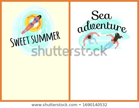 Sea Adventures Sweet Summer Website Online Set Stock photo © robuart