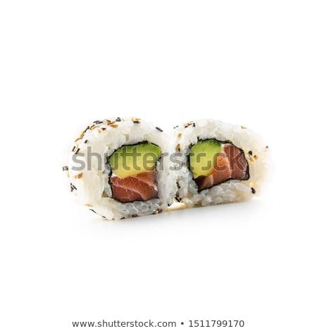 суши · Калифорния · пластина · макроса · продовольствие - Сток-фото © anna_om