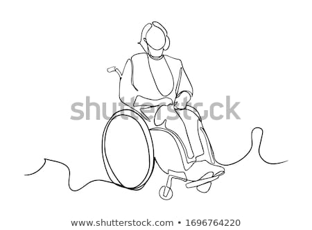 Patient on Wheelchair Continuous Line Stock photo © patrimonio