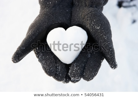 eller · kalp · dışarı · kar - stok fotoğraf © monkey_business
