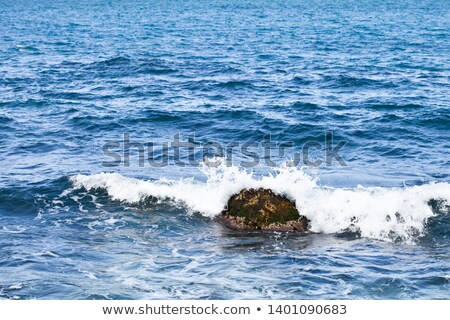 Waving water surface and stone of the Adriatic sea. Stock photo © marylooo