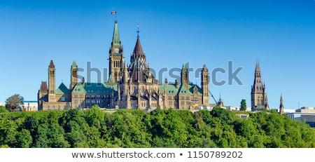 議会 · カナダ · オタワ · 早朝 · 光 · 曇った - ストックフォト © rzymu