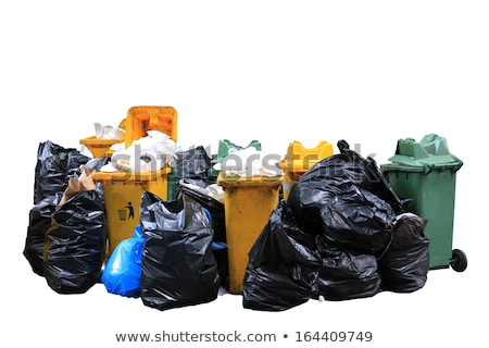 Big pile of garbage and waiste in black bags Stock photo © galitskaya